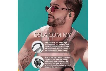 258 Ear Hanging Hook BT 5.0 TWS Wireless Headphones Stereo In-ear Headset for Sport Running (Black) (Black)